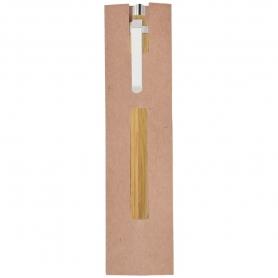 Bolígrafo de Bambú con Funda  Boligrafos