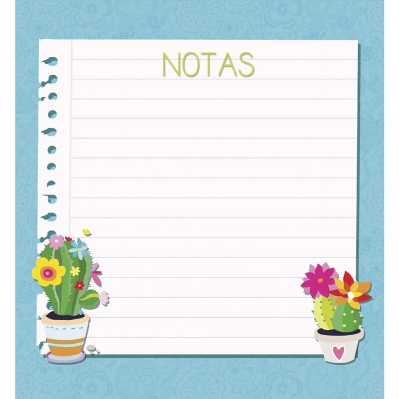 Notas de Cactus  Detalles Papeleria