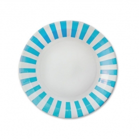 Disposable Stripes Dishes