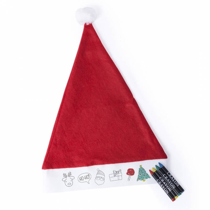 Gorro de Papá Noel para Colorear  Navidad