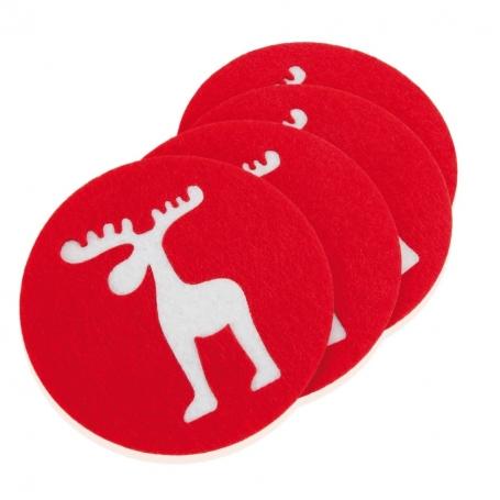 Set de 4 Posavasos Navideños Navidad Regalos por ocasiones