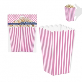 Pack of 3 boxes for Popcorn