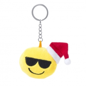 Llavero Emoticonos Navideños Modelo:: carita gafas, carita