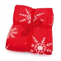 Manta Roja con Copos de Nieve