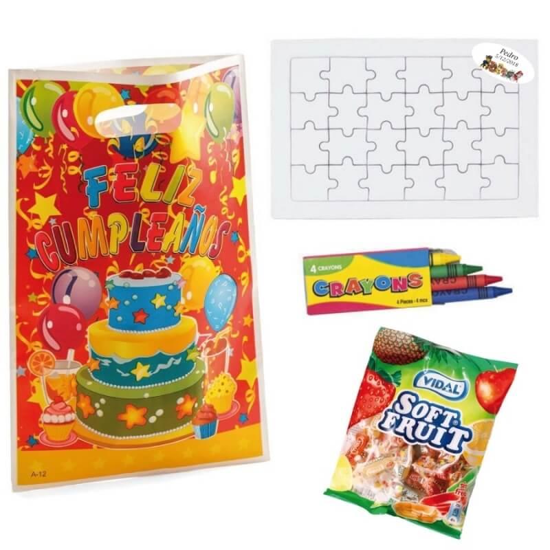 Puzzle Con Chuches Para Cumpleaños Comprar Puzzles Regalitos 152