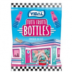 Botellas de Tutti Frutti de Golosinas