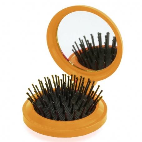 Espejo con Cepillo Naranja Espejitos Boda Detalles Boda Mujer