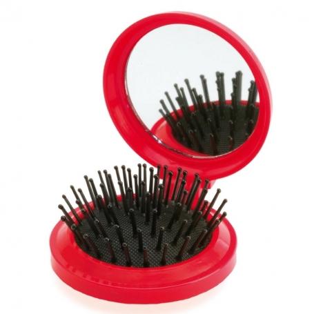 Espejo con Cepillo Rojo Espejitos Boda Detalles Boda Mujer