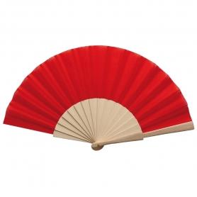 Abanico Rojo de Madera