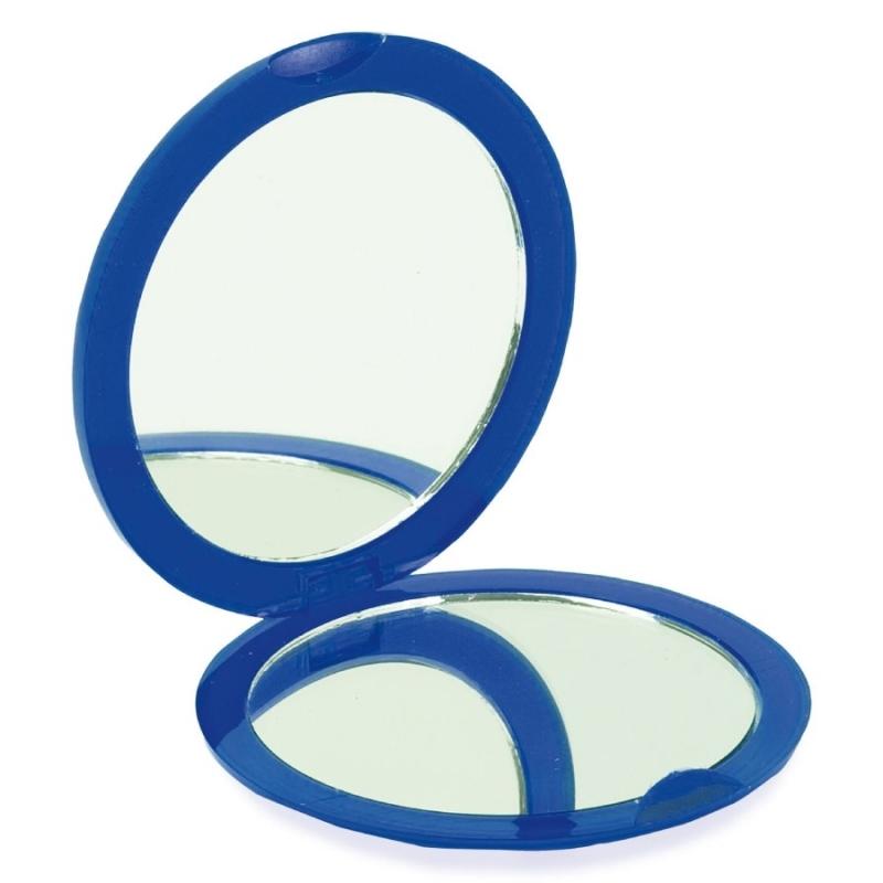 Espejo Doble Plegable Azul