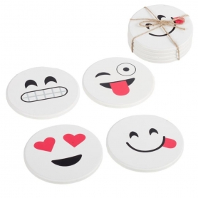 Set de Posavasos de Emoticonos