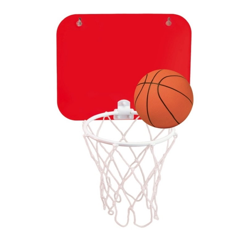 Pelota y Canasta de Baloncesto Color: rojo, negro Regalos para