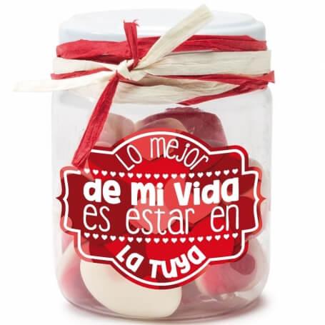 Tarros de Chuches con Mensajes  Regalos San Valentin