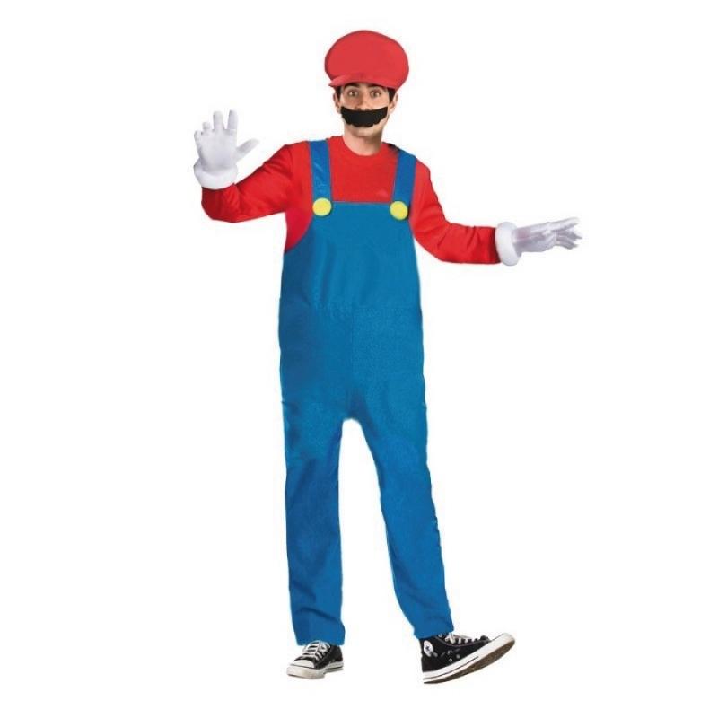 Disfraz de Mario Bros para Hombre Tallas: s, m, l Disfraces
