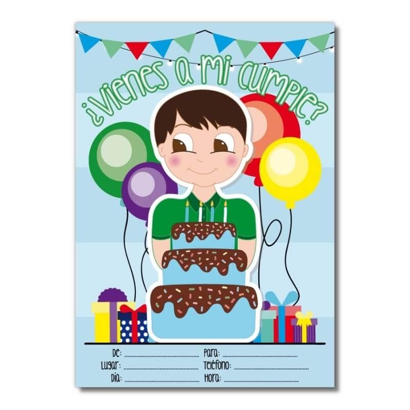 Invitación para Cumpleaños para Chicos Invitaciones Detalles