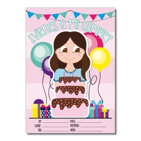 Invitaciones para Cumpleaños de Chicas  Invitaciones de