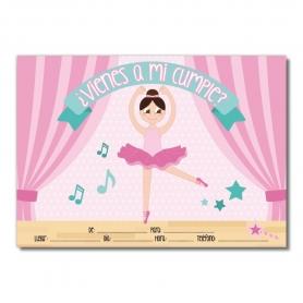 Invitación para Cumpleaños de Ballet