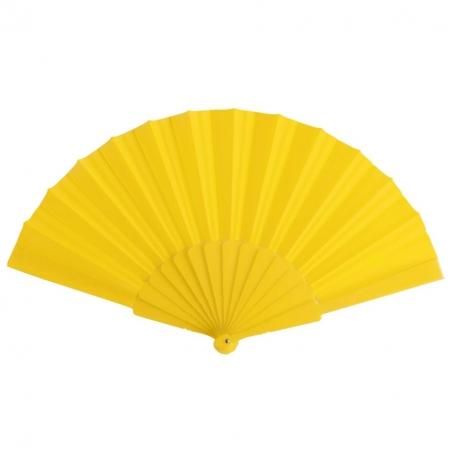 Abanicos de Colores para Celebraciones Color: amarillo