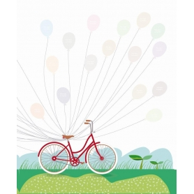 Libro Huellas Comunión Color: azul, rosa Complementos para