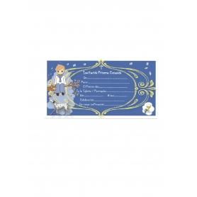 Invitación para Comunión Niño Azul