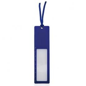 Regla Lupa Marcapáginas Okam Color: azul, bla, roj Marcapaginas