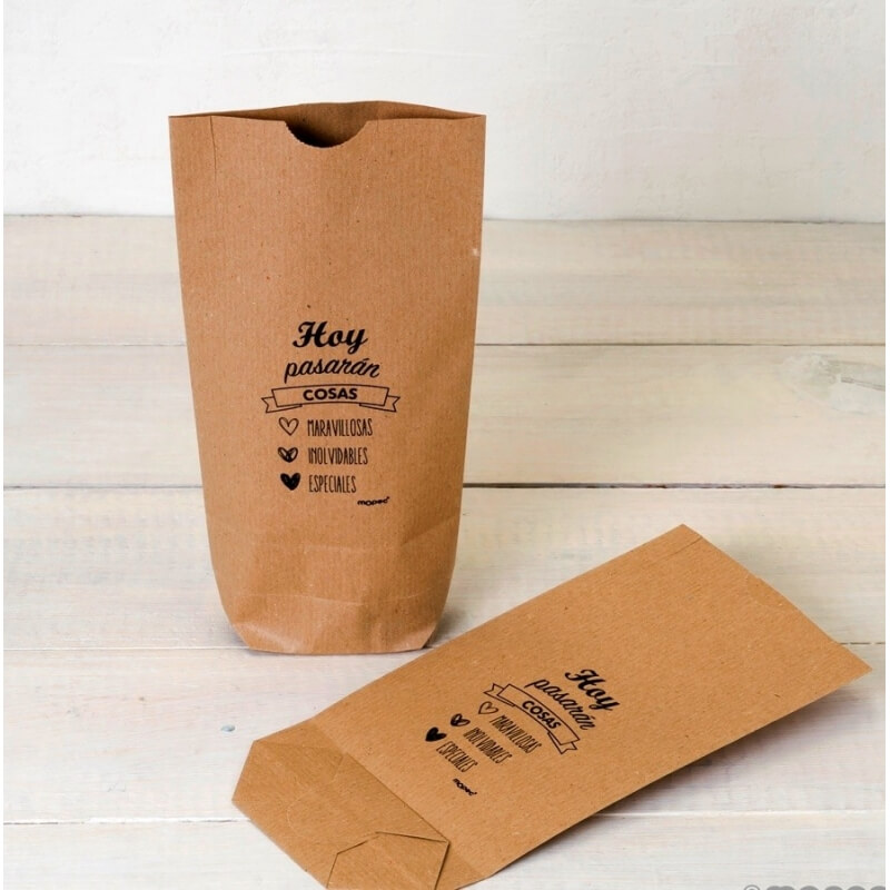 Kraft Bag Today Things Will Happen, black