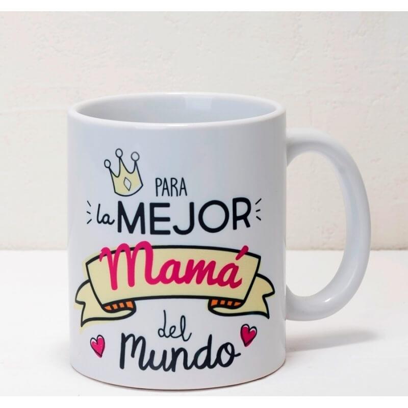 Taza Cerámica Para La Mejor Mamá, En Caja Regalo  Tazas