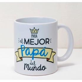 Taza Cerámica Para El Mejor Papá En Caja Regalo