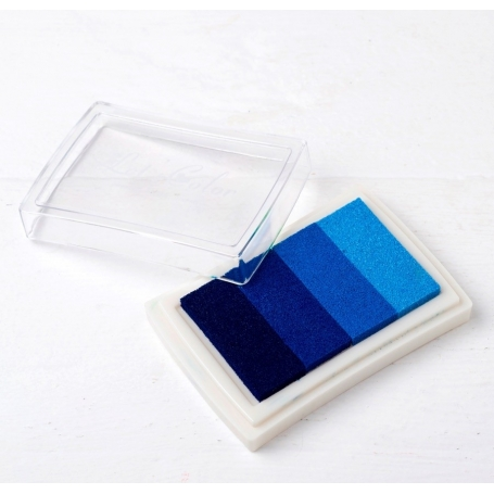 Tinta de Huellas de Color Azul Complementos Necesarios Comunión