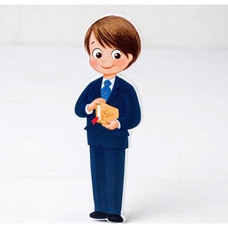 Figura 2d Madera Niño Comunión Traje Y Figuras Tarta Necesarios