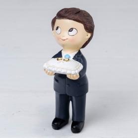 Figura Pastel Pop & Fun Niño Corbata Y Cojín Anillos  Figuras