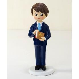 Figura Comunión Niño Traje Azul Y Biblia En Mano 7.52 €