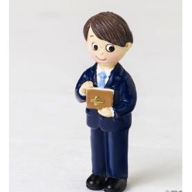 Imán Niño Comunión Traje Azul Y Biblia, Figuritas e Imanes