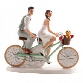 Figura de Pareja de Boda en Bicicleta