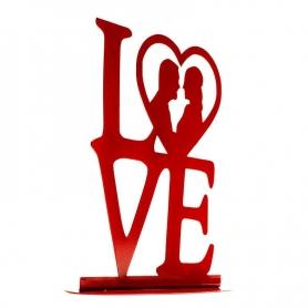"""Figura de Boda Metal """"LOVE"""" Rojo Figuras Tarta Necesarios Boda"""