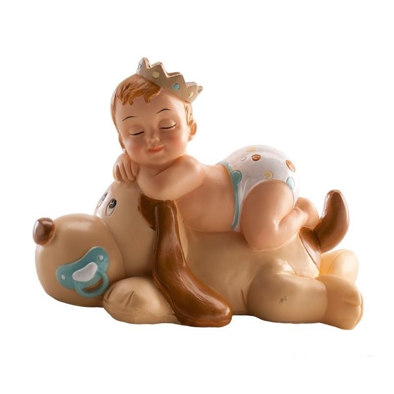 Figura de Bautizo Niño Durmiendo con Perro  Figuras Tarta