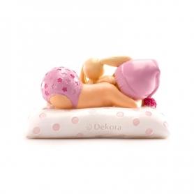 Figura de Bautizo Niña con Peluche Figuras tarta Detalles