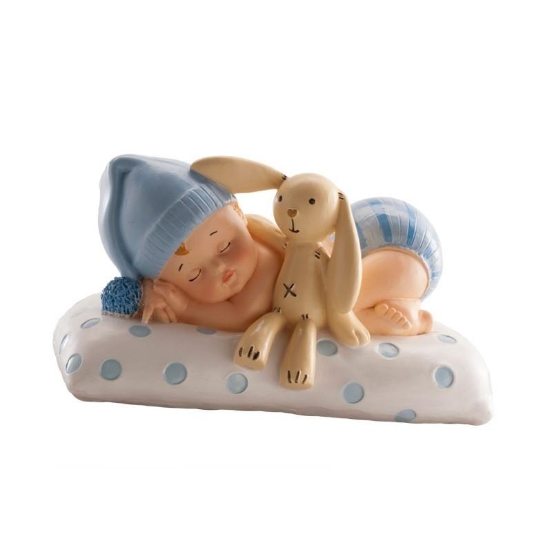 Figura de Bautizo Niño con Peluche  Figuras Tarta Bautizo
