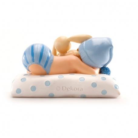 Figura de Bautizo Niño con Peluche Figuras tarta Detalles