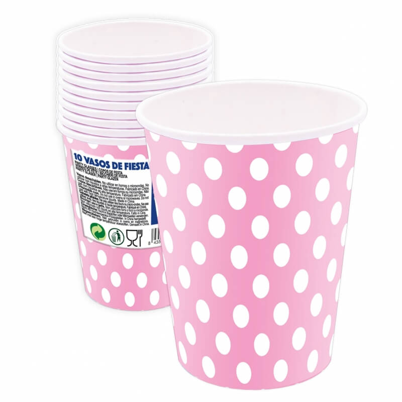 Disposable Polka Dot Cups Pack