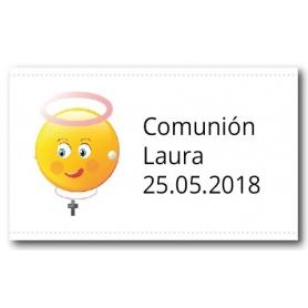 Adhesivos Personalizados para Comunión Niña