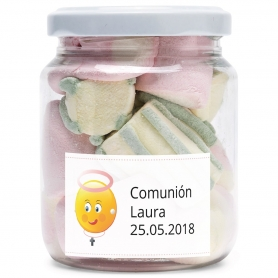 Tarros de Gominolas Personalizados para Comunión
