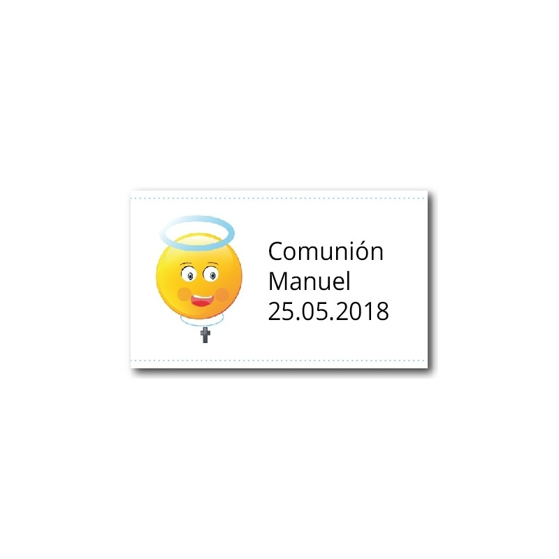 Adhesivos Personalizados para Comunión Niño Pegatinas Adhesivos