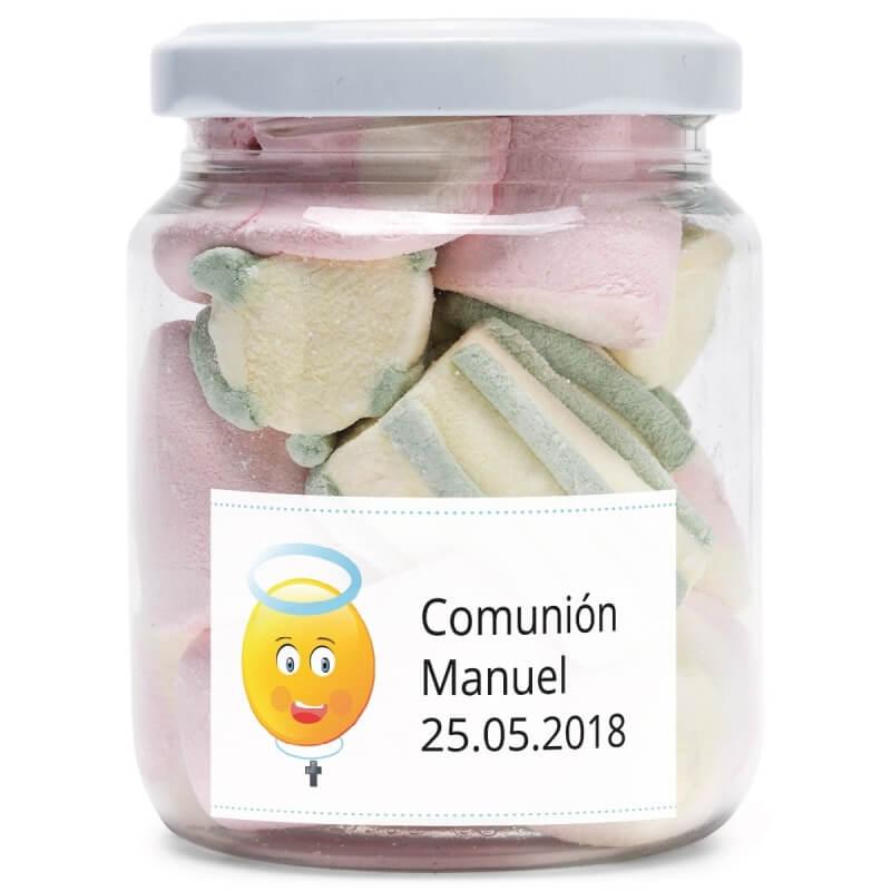 Tarros de Chuches Personalizados para Comunión  Detalles Dulces