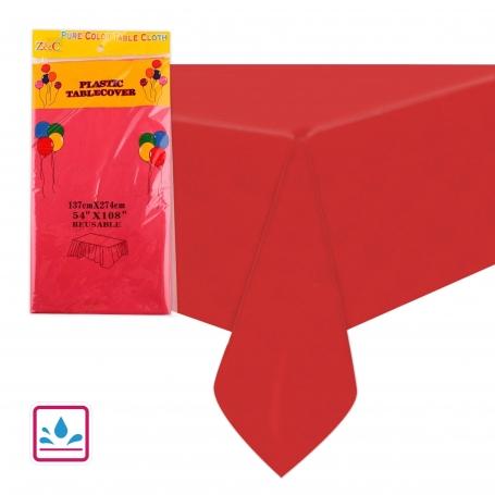 Manteles de Color Rojo Menaje Desechable Decoración Cumple