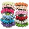 Flores de Papel para decorar regalos y broches para adornar detalles de boda